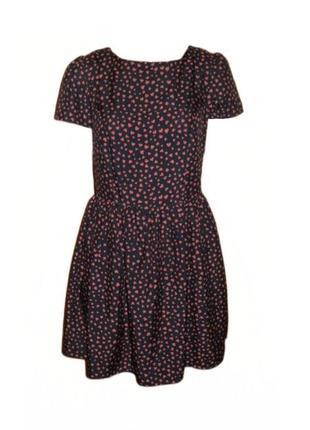 Расклешенное летнее платье принт сердце atmosphere повседневно...