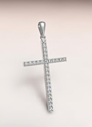 Крестик с бриллиантами 0,33 ct