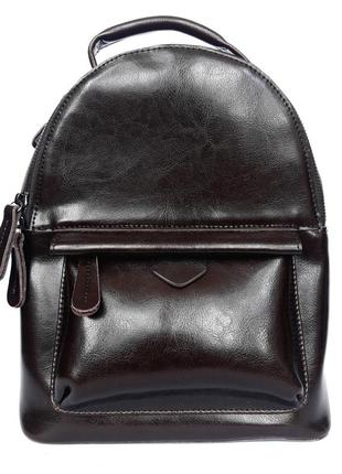 """Женский кожаный рюкзак """"sparrow"""" темно-коричневый"""
