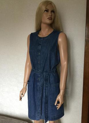Платье рубашка джинсовое next размер 14