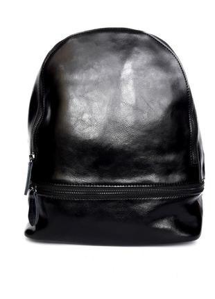 """Женский кожаный рюкзак """"sturdy"""" черный"""