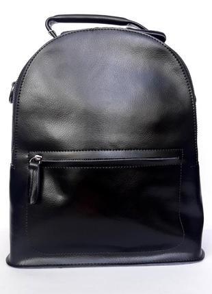 """Женский кожаный рюкзак """"arrow"""" черный"""