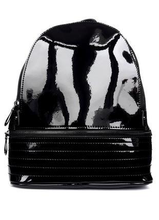 """Женский кожаный рюкзак """"brilliant"""" черный"""