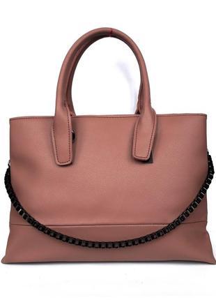 """Женская кожаная сумка """"carnation"""" розовая"""