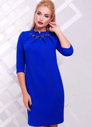 Платье женское синего цвета осень-весна