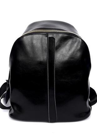 """Женский кожаный рюкзак """"pouch"""" черный"""