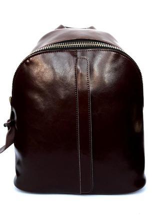 """Женский кожаный рюкзак """"pouch"""" коричневый"""