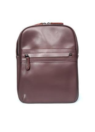 """Женский кожаный рюкзак """"brick"""" пурпурный"""