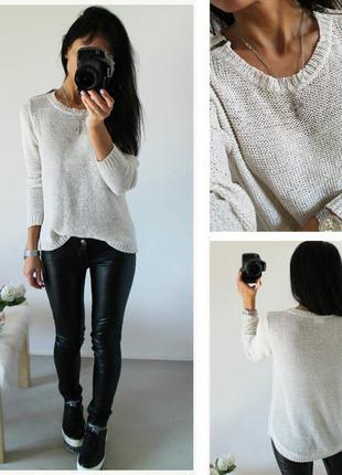 Классный белый свитерок