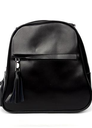 """Женский кожаный рюкзак """"verge"""" черный"""