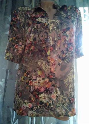 Интересная блузка, большого размера.