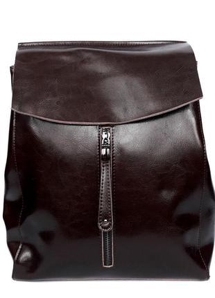 """Женский кожаный рюкзак """"alice"""" темно-коричневый"""