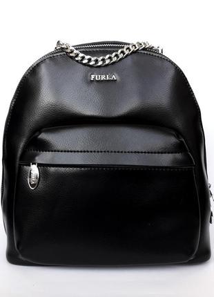 """Женский кожаный рюкзак """"tenerezza"""" черный"""