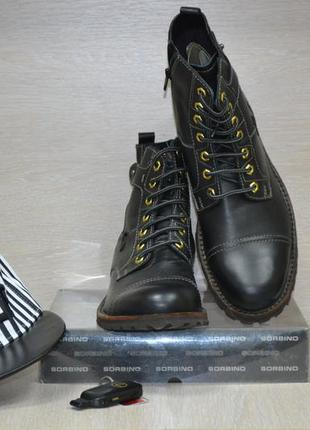 Кожаные демисезонные мужские ботинки
