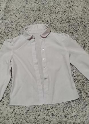 Блузка белая, блузка школьная на 7-8 лет