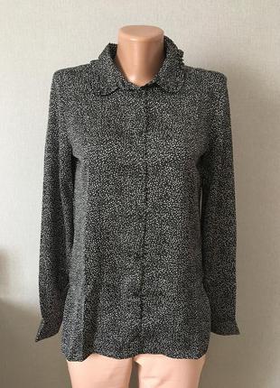 Блуза h&m #черная #в горошек