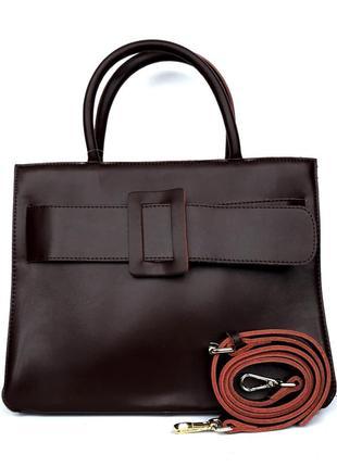 """Женская кожаная сумка """"alexandra"""" темно-коричневая"""