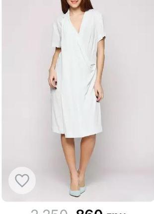 Нежное, мятное платье на лето