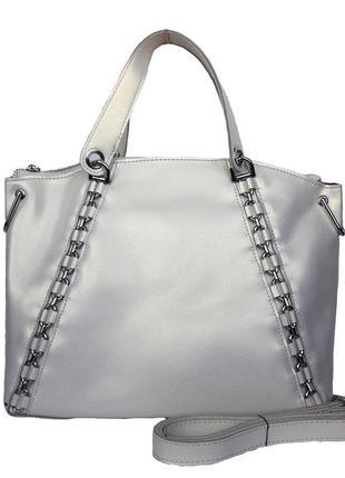"""Женская кожаная сумка """"catena"""" белая"""