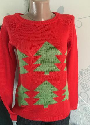 Новогодний свитерок #красный