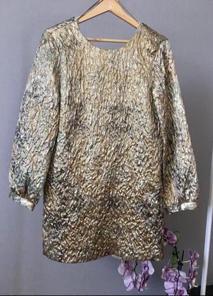 Золотое мини-платье от zara