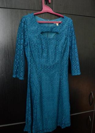 Платье yumy морская волна