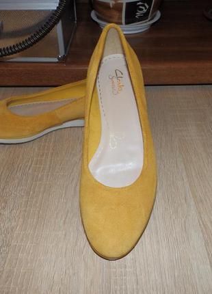 Туфли , мокасины , балетки clarks somerset women's yellow