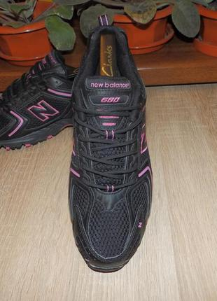 Кроссовки беговые new balance 680 black pink made in england