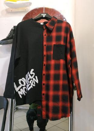 Оригинальный свитшот рубашка