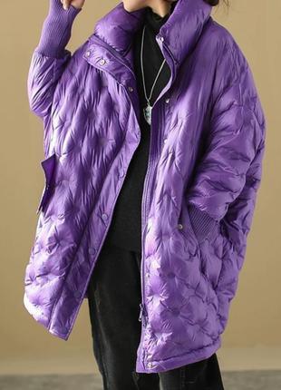 Оригинальная куртка свободного кроя оверсайз