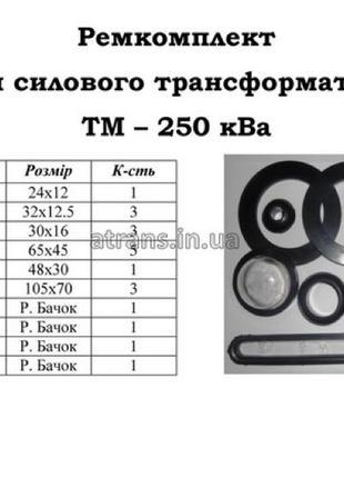 Ремкомплект  для трансформатор ТМ 250 цена 1200 грн