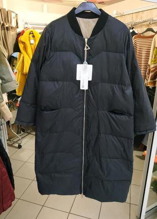 Удлиненная куртка пуховик оверсайз