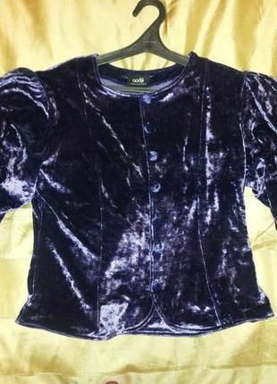 Нарядна бархатна блуза 48 розм. укр