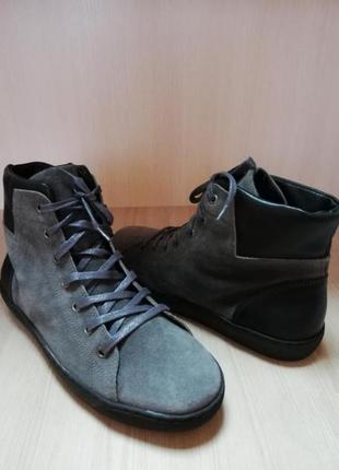 Натуральные кожаные, замшевые ботинки кроссовки minelli 41