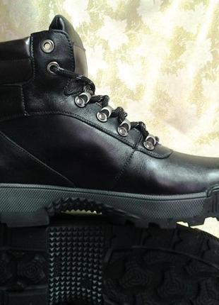 Распродажа!зимние кожаные ботинки под берцы madoks 43