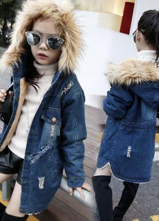 Парка джинсовая куртка модная