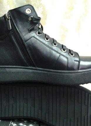 Распродажа!зимние кожаные ботинки под кеды на молнии madoks 44р.