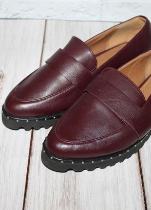 Аккуратные кожаные туфли 14th&union размер 35(4,5)