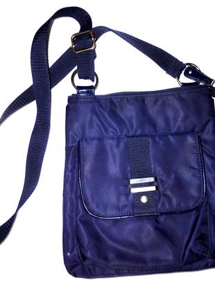Синяя сумка через плечо   26х23см
