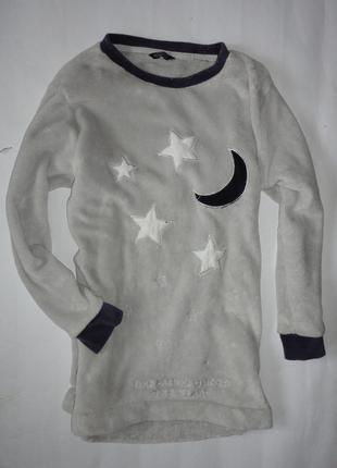Теплая ночнушка ночная сорочка на меху р.xs-s
