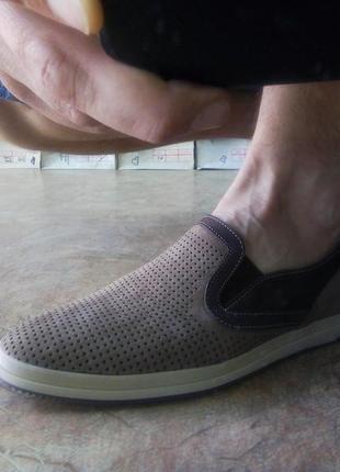 Мужские летние песочные кеды-мокасины madoks распродажа!40,41,...
