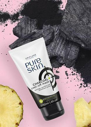 Очищающая маска-пленка с углем pure skin орифлейм код 34872
