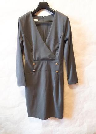 Rinascimento италия xl серое офисное платье  миди