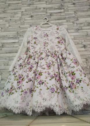 Цветочное платье для праздников торжества,детское