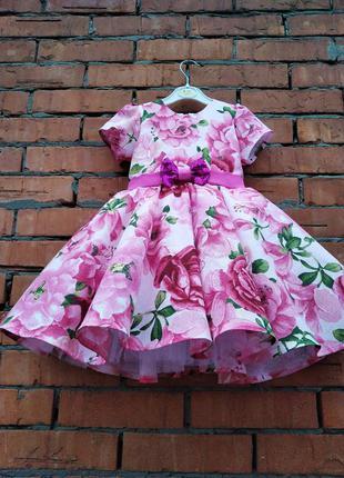 Платье для девочки розовое для роаздника