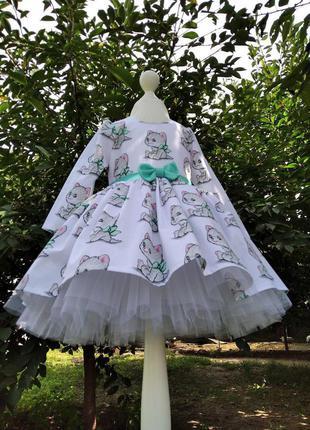 Платье котики для девочек на любой праздник