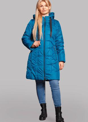 Практичная куртка-плащ на осень-весну в больших размерах