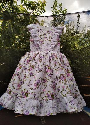 Платье в цветочек детское для девочки
