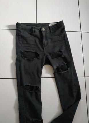 Эксклюзив! джинсы рваные скинни большие дырки