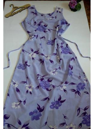 Платье 52 54  размер шифоновое длинное  нарядное повседневное ...